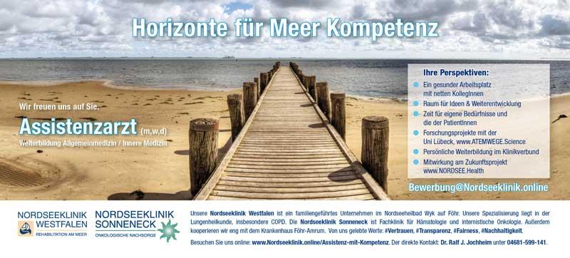 Stellenangebot Assistenzarzt Nordseeklinik Westfalen