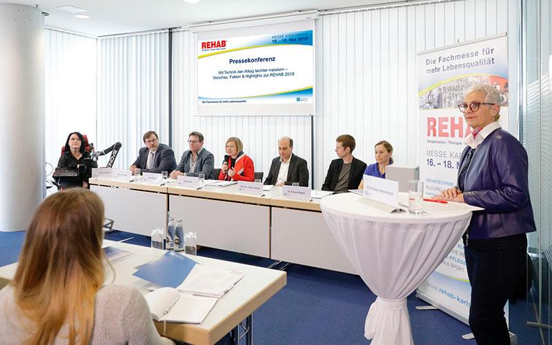 Pressekonferenz der REHAB