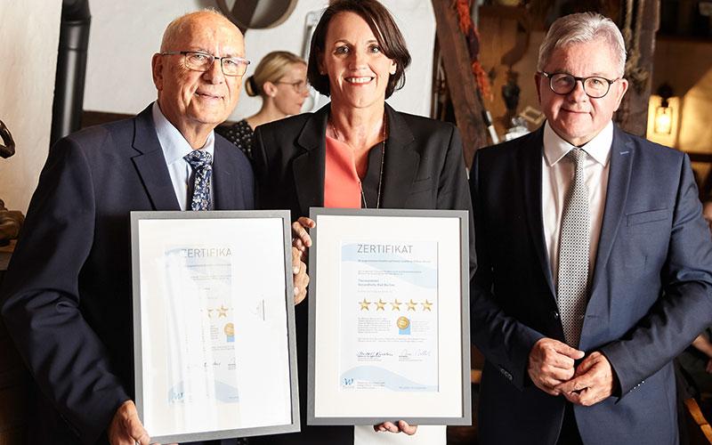 Gesundheitszentrum Bad Buchau - Auszeichnung mit 5 Wellness-Stars