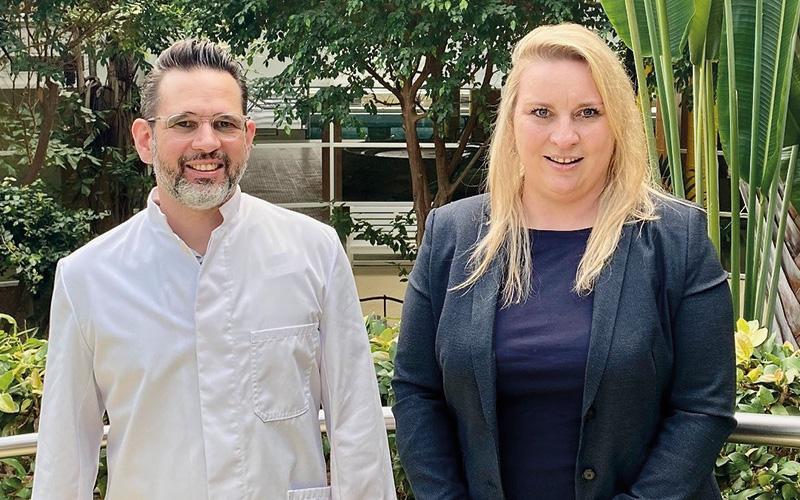 Karin Fuchs und Dr. Stefan Junk