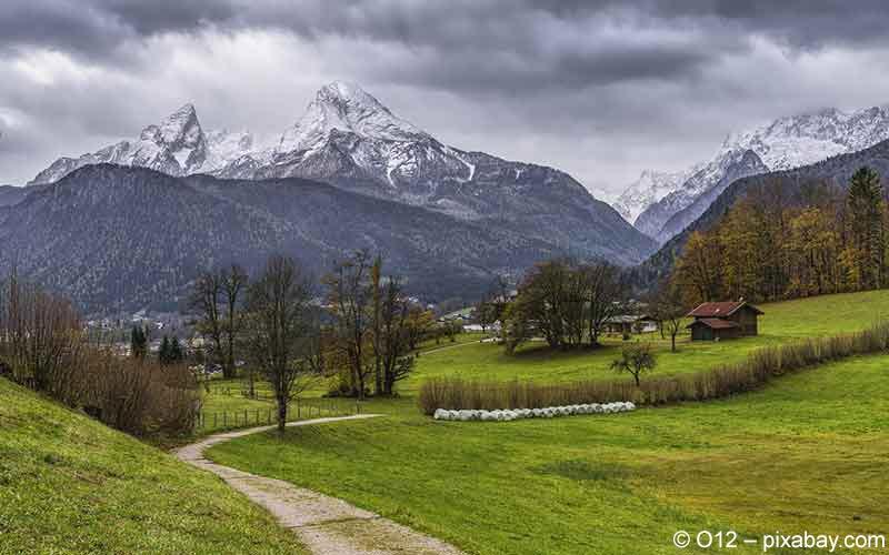 Kurorte in den bayerischen Alpen
