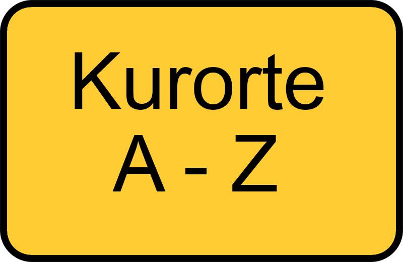 Kurorte von A-Z